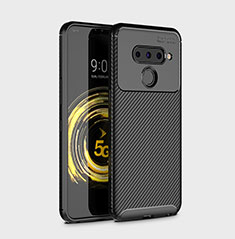 Coque Silicone Housse Etui Gel Serge pour LG V50 ThinQ 5G Noir