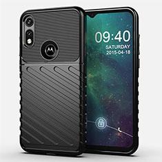 Coque Silicone Housse Etui Gel Serge pour Motorola Moto E (2020) Noir