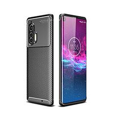 Coque Silicone Housse Etui Gel Serge pour Motorola Moto Edge Plus Noir