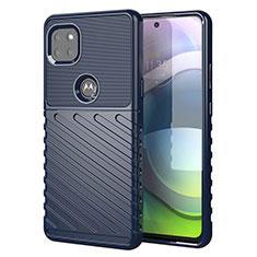 Coque Silicone Housse Etui Gel Serge pour Motorola Moto G 5G Bleu