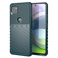 Coque Silicone Housse Etui Gel Serge pour Motorola Moto G 5G Vert