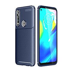 Coque Silicone Housse Etui Gel Serge pour Motorola Moto G Power Bleu