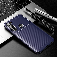 Coque Silicone Housse Etui Gel Serge pour Motorola Moto G Stylus Bleu