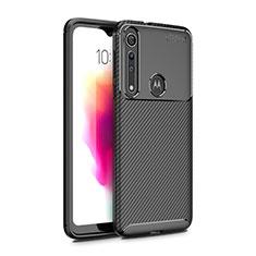 Coque Silicone Housse Etui Gel Serge pour Motorola Moto G8 Play Noir