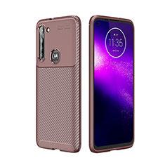 Coque Silicone Housse Etui Gel Serge pour Motorola Moto G8 Power Marron