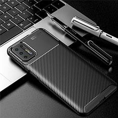 Coque Silicone Housse Etui Gel Serge pour Motorola Moto G9 Plus Noir