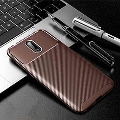 Coque Silicone Housse Etui Gel Serge pour Nokia 2.3 Marron