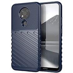 Coque Silicone Housse Etui Gel Serge pour Nokia 3.4 Bleu