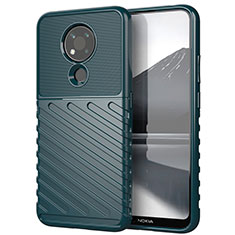 Coque Silicone Housse Etui Gel Serge pour Nokia 3.4 Vert