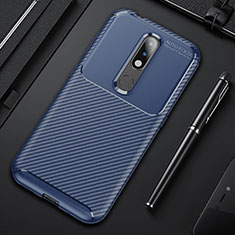 Coque Silicone Housse Etui Gel Serge pour Nokia 4.2 Bleu