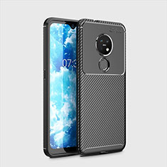 Coque Silicone Housse Etui Gel Serge pour Nokia 7.2 Noir