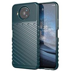 Coque Silicone Housse Etui Gel Serge pour Nokia 8.3 5G Vert Nuit