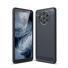 Coque Silicone Housse Etui Gel Serge pour Nokia 9 PureView Bleu