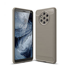 Coque Silicone Housse Etui Gel Serge pour Nokia 9 PureView Gris