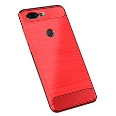 Coque Silicone Housse Etui Gel Serge pour OnePlus 5T A5010 Rouge