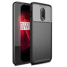 Coque Silicone Housse Etui Gel Serge pour OnePlus 7 Noir