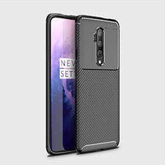 Coque Silicone Housse Etui Gel Serge pour OnePlus 7T Pro Noir