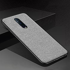 Coque Silicone Housse Etui Gel Serge pour Oppo R17 Pro Gris