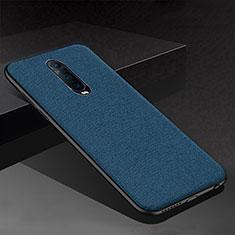 Coque Silicone Housse Etui Gel Serge pour Oppo RX17 Pro Bleu