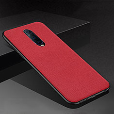 Coque Silicone Housse Etui Gel Serge pour Oppo RX17 Pro Rouge