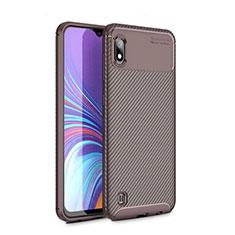Coque Silicone Housse Etui Gel Serge pour Samsung Galaxy A10 Marron