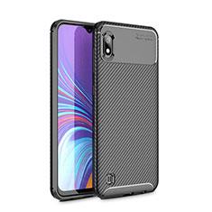 Coque Silicone Housse Etui Gel Serge pour Samsung Galaxy A10 Noir