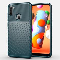 Coque Silicone Housse Etui Gel Serge pour Samsung Galaxy A11 Vert