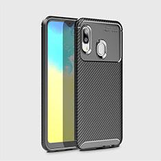 Coque Silicone Housse Etui Gel Serge pour Samsung Galaxy A20e Noir