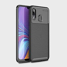Coque Silicone Housse Etui Gel Serge pour Samsung Galaxy A30 Noir