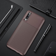 Coque Silicone Housse Etui Gel Serge pour Samsung Galaxy A30S Marron