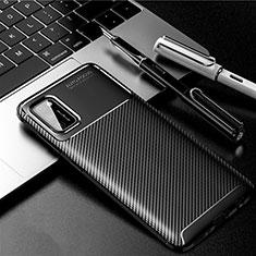 Coque Silicone Housse Etui Gel Serge pour Samsung Galaxy A41 Noir