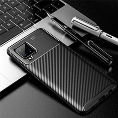Coque Silicone Housse Etui Gel Serge pour Samsung Galaxy A42 5G Noir