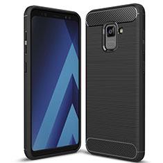 Coque Silicone Housse Etui Gel Serge pour Samsung Galaxy A5 (2018) A530F Noir