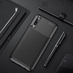 Coque Silicone Housse Etui Gel Serge pour Samsung Galaxy A50 Noir