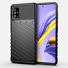 Coque Silicone Housse Etui Gel Serge pour Samsung Galaxy A51 4G Noir