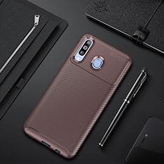 Coque Silicone Housse Etui Gel Serge pour Samsung Galaxy A60 Marron