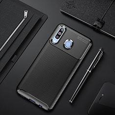 Coque Silicone Housse Etui Gel Serge pour Samsung Galaxy A60 Noir