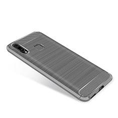 Coque Silicone Housse Etui Gel Serge pour Samsung Galaxy A8 Star Gris