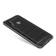 Coque Silicone Housse Etui Gel Serge pour Samsung Galaxy A8 Star Noir