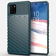 Coque Silicone Housse Etui Gel Serge pour Samsung Galaxy A81 Vert