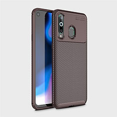 Coque Silicone Housse Etui Gel Serge pour Samsung Galaxy A8s SM-G8870 Marron
