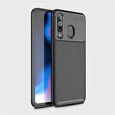 Coque Silicone Housse Etui Gel Serge pour Samsung Galaxy A8s SM-G8870 Noir