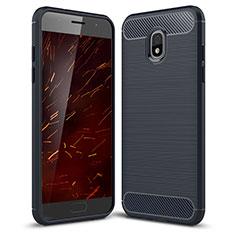 Coque Silicone Housse Etui Gel Serge pour Samsung Galaxy Amp Prime 3 Bleu