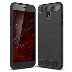 Coque Silicone Housse Etui Gel Serge pour Samsung Galaxy Amp Prime 3 Noir