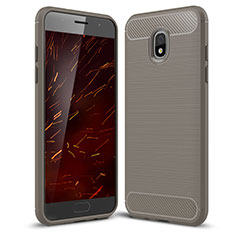 Coque Silicone Housse Etui Gel Serge pour Samsung Galaxy J3 Star Gris