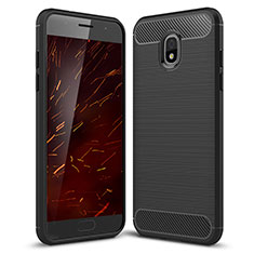 Coque Silicone Housse Etui Gel Serge pour Samsung Galaxy J3 Star Noir