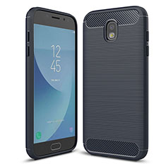 Coque Silicone Housse Etui Gel Serge pour Samsung Galaxy J5 (2017) Duos J530F Bleu