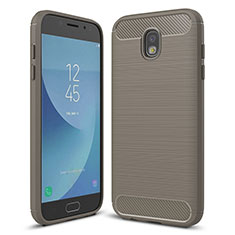 Coque Silicone Housse Etui Gel Serge pour Samsung Galaxy J5 (2017) Duos J530F Gris