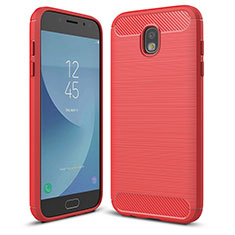 Coque Silicone Housse Etui Gel Serge pour Samsung Galaxy J5 (2017) Duos J530F Rouge