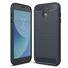 Coque Silicone Housse Etui Gel Serge pour Samsung Galaxy J5 (2017) SM-J750F Bleu